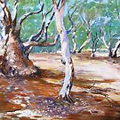 Silverton River Gums Oil  by Virginia McGowan