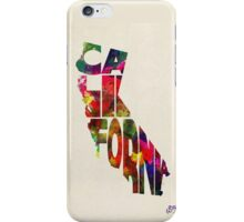 California Typographic Watercolor Map iPhone Case/Skin