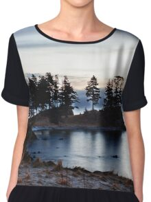 Spruce Cape Photography Print Chiffon Top