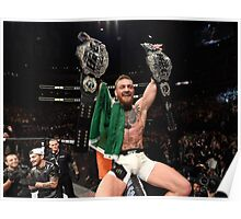 Conor McGregor 2 Belt Champ Poster