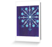 abstract snowflake (2) Greeting Card