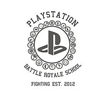 Playstation Battle Royale School (Grey) Photographic Print