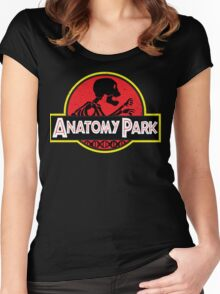 anatomy park Women's Fitted Scoop T-Shirt