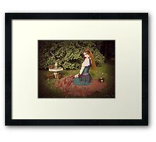 Lillian in Wonderland 3 Framed Print