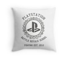 Playstation Battle Royale School (Grey) Throw Pillow
