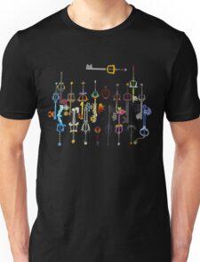 Kingdom Hearts Keyblades Unisex T-Shirt