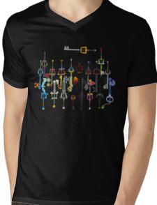 Kingdom Hearts Keyblades Mens V-Neck T-Shirt