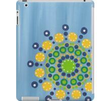 dots on blue background (1) iPad Case/Skin
