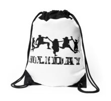 Holiday Together With Friend Drawstring Bag