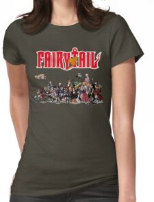Fairy Tail Characters Womens Fitted T-Shirt