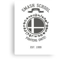 Smash School United (Grey) Canvas Print