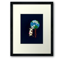 SpaceCow, lonely and bored  Framed Print