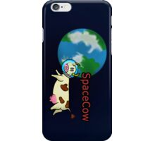 SpaceCow, lonely and bored  iPhone Case/Skin