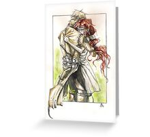 Becky and Crane Greeting Card
