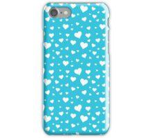 Scattered Hearts - Light Blue iPhone Case/Skin