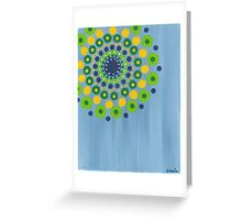 dots on blue background (2) Greeting Card