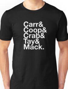Silver & Black Squad T-shirt (Black) Unisex T-Shirt
