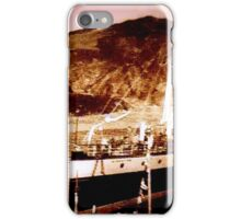 Boat in port circa 1910 iPhone Case/Skin