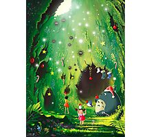 Totoro Christmas Card Photographic Print