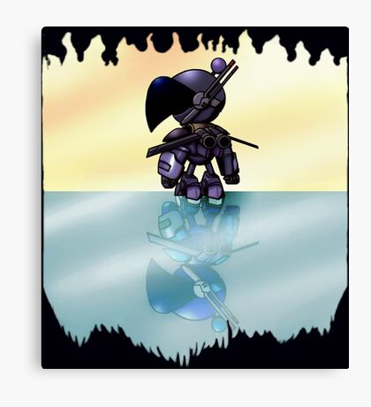 Bulzeeb/Regulus Fire And Ice Reflections (UNOFFICIAL Bomberman) Canvas Print