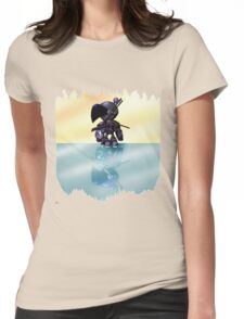 Bulzeeb/Regulus Fire And Ice Reflections (UNOFFICIAL Bomberman) Womens Fitted T-Shirt