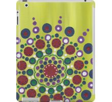 dots on green background iPad Case/Skin