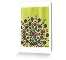 dots on green background Greeting Card