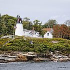 Burnt Island Lighthouse - Maine by Robert Kelch, M.D.