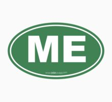 Maine ME Euro Oval GREEN by USAswagg