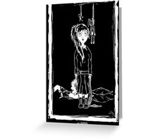 Twisted Little Girl Greeting Card