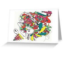 Graffiti Linework Greeting Card
