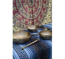 Singing Bowls Photographic Print