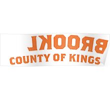 BROOKLYN NY - County of Kings (Orange, White) Poster