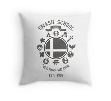 Smash School Veteran Class (Grey) Throw Pillow