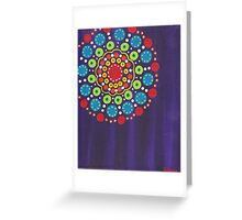 dots on purple background (2) Greeting Card
