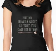 Band Merch - Panic, Put My Heart on My Chest So That You Can See It Too Women's Fitted Scoop T-Shirt
