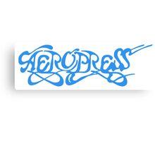 Aeropress Blue Canvas Print