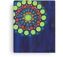 dots on dark blue background (1) Canvas Print