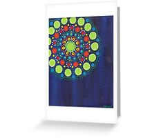 dots on dark blue background (1) Greeting Card