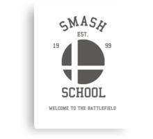 Smash School (Grey) Canvas Print