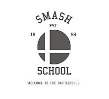 Smash School (Grey) Photographic Print