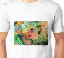 Picassocalia - Holidaymaker With Hat. L B Unisex T-Shirt
