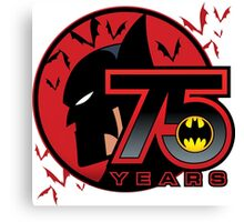 75 YEARS OF THE BAT Canvas Print
