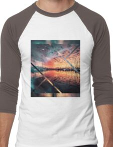 Boat evening  Men's Baseball ¾ T-Shirt