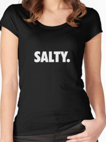 Salty. Women's Fitted Scoop T-Shirt