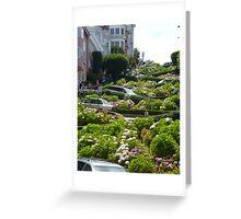 Lombard Street, San Francisco Greeting Card