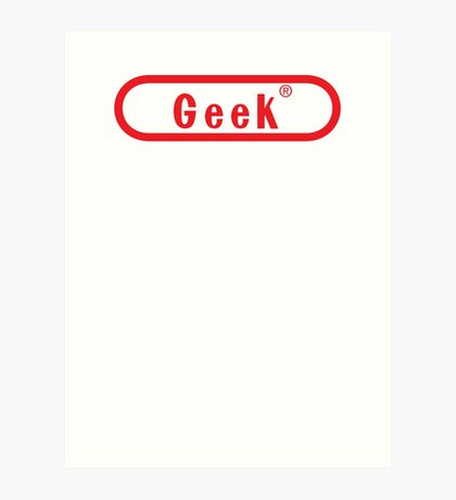 Video Game Geek Art Print