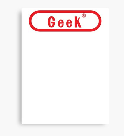 Video Game Geek Canvas Print