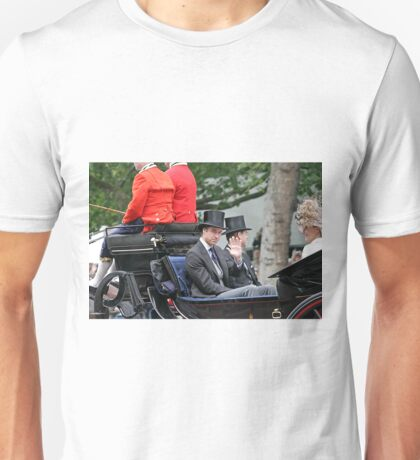 Prince William in a carriage Unisex T-Shirt