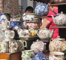 Tea Time! Teapots In The Marketplace Sticker